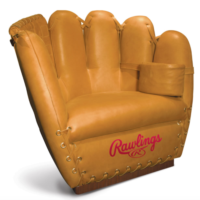 Authentic Baseball Glove Leather Chair