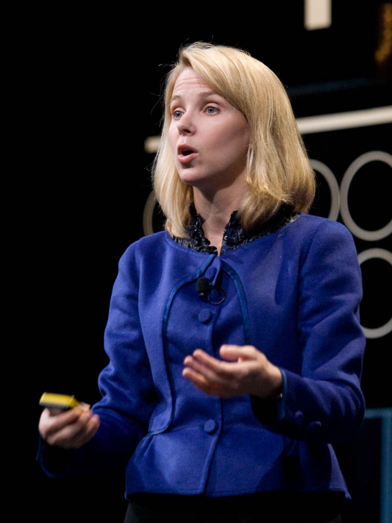 Marissa Mayer, vice president of search products and user experience at Google, speaks at the Google I/O conference.