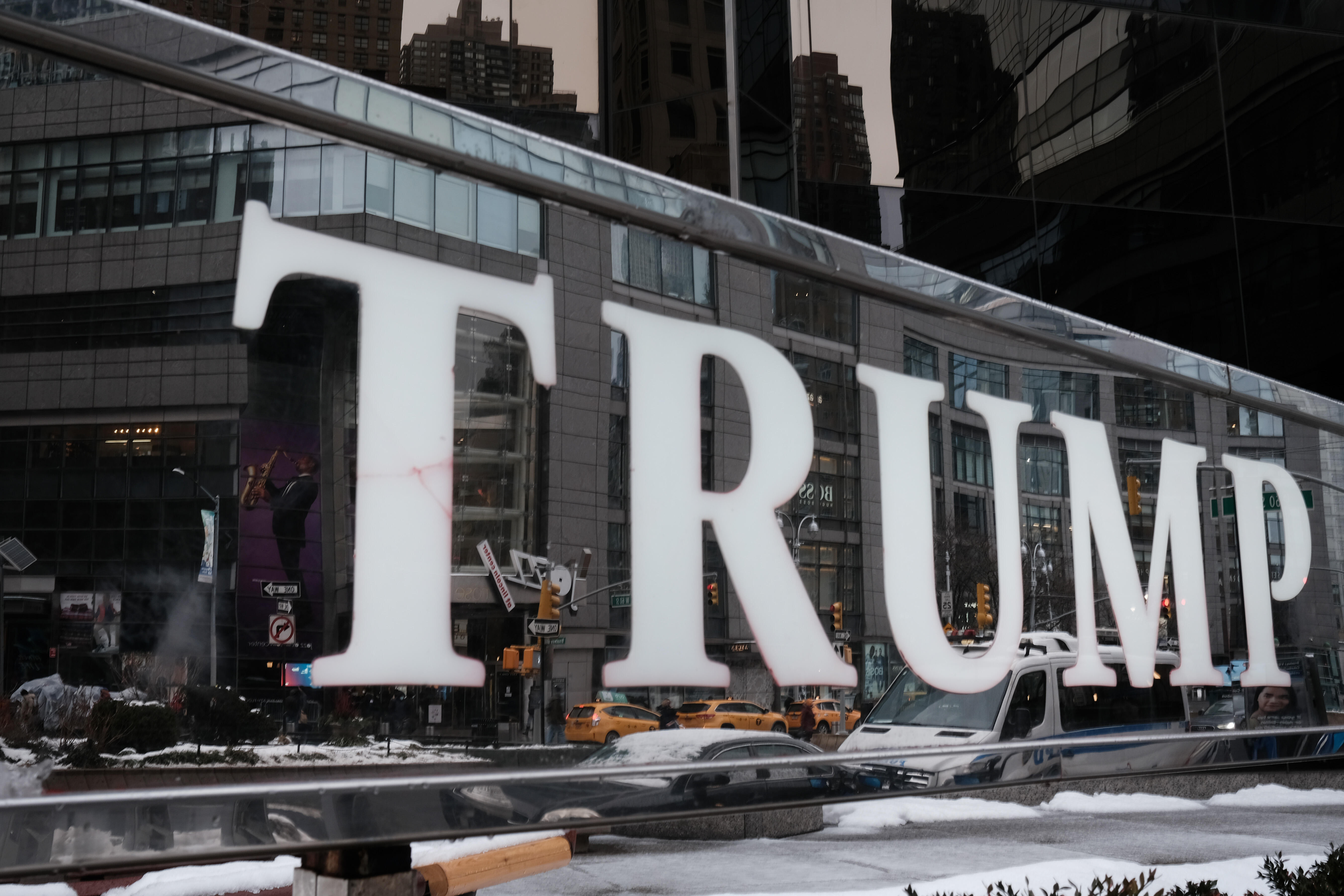 A sign for the Trump International Hotel in New York City