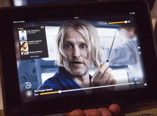 The Kindle Fire HD boasts a display with pixel density that gets pretty close to Apple's Retina iPad.
