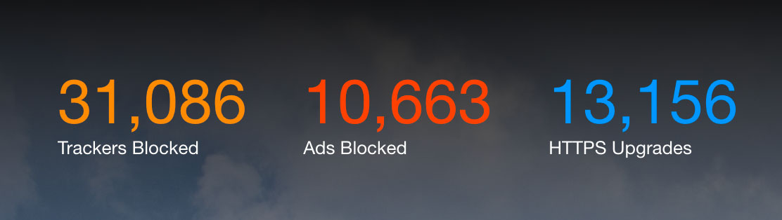 Even without private tabs, Brave blocks ads, stops ad industry attempts to track your online behavior, and changes unencrypted website connections to secure connections when possible.