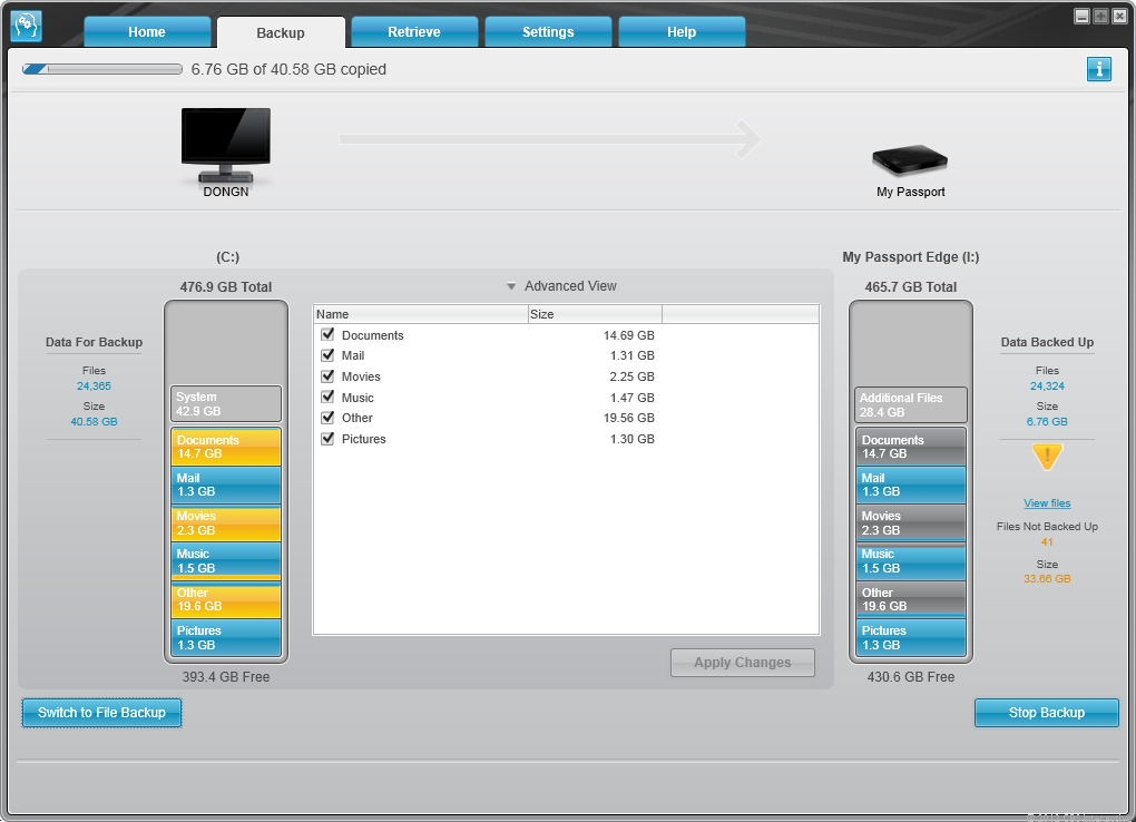WD Backup is very useful backup software for novice users.