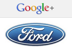 Google+ and Ford logos