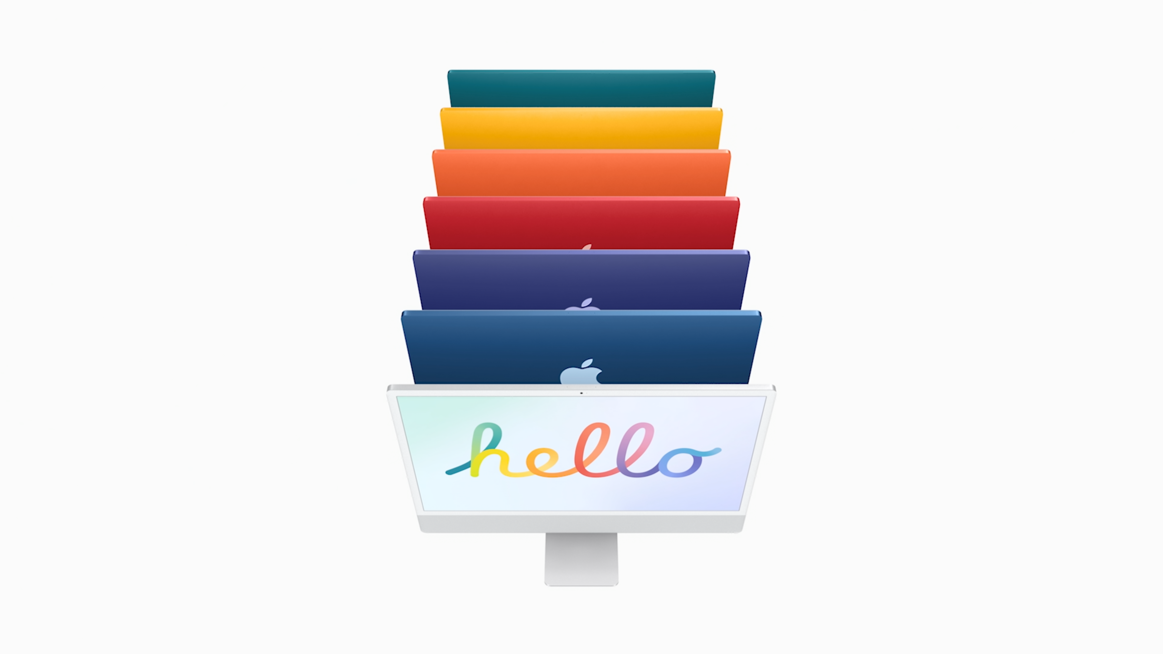iMac 2021 in 7 colors with M1