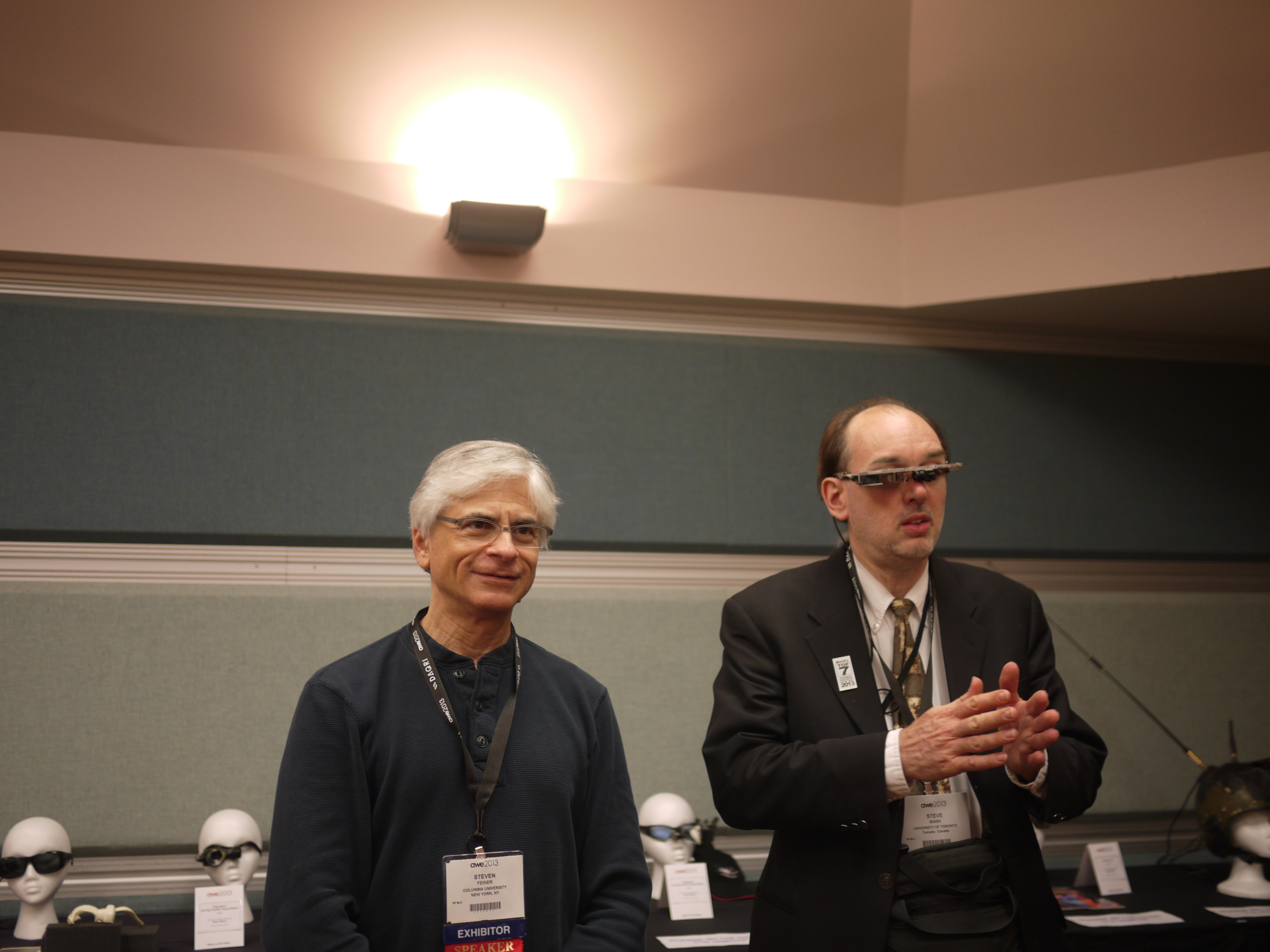 Two augmented reality pioneers: Columbia University's Steven Feiner and the University of Toronto's Steve Mann