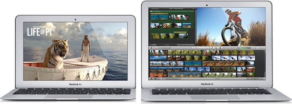 A future MacBook Air may depart from the 11- and 13-inch designs to date.