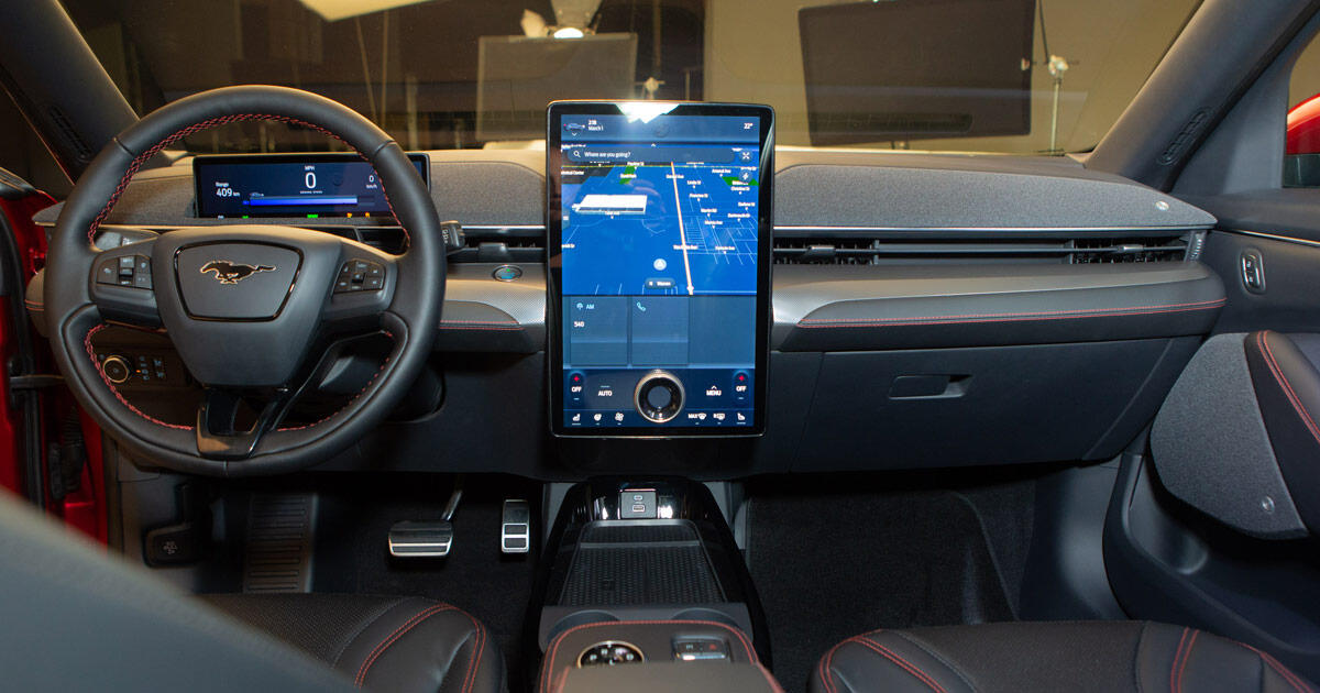 The Ford Mustang Mach-E's infotainment system aims to please - Roadshow