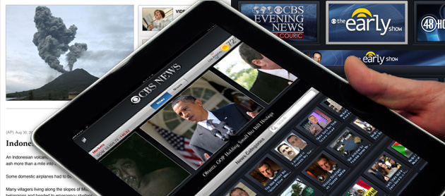 The free CBS News app for iPad prominently features the day's top stories, and provides fully searchable news categories including U.S., World, Politics, SciTech, Health, Entertainment, MoneyWatch, Sports, Crime, and Opinion. Each category offers rich CBS News coverage, with a timeline of the latest articles and videos.