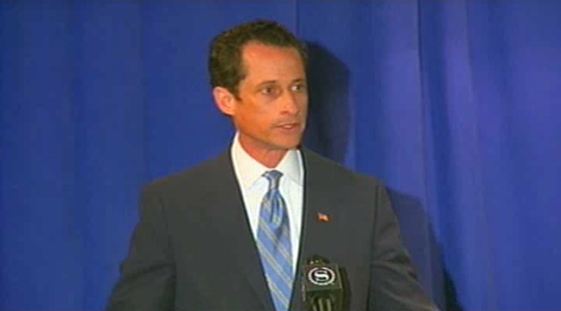 """caption: Rep. Anthony Weiner admits to """"terrible judgment"""" at New York press conference."""