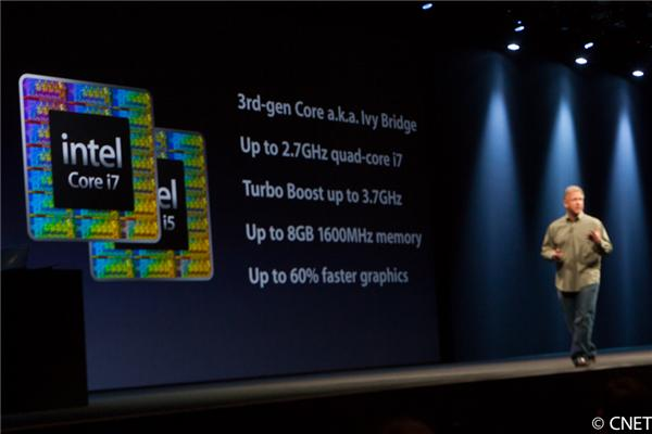 Apple marketing chief Phil Schiller touts the MacBook Air's new specs.