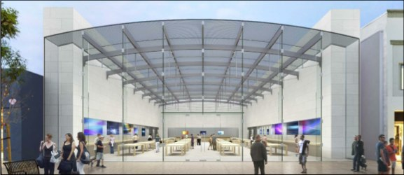 Is Apple erecting a new store in Santa Monica?