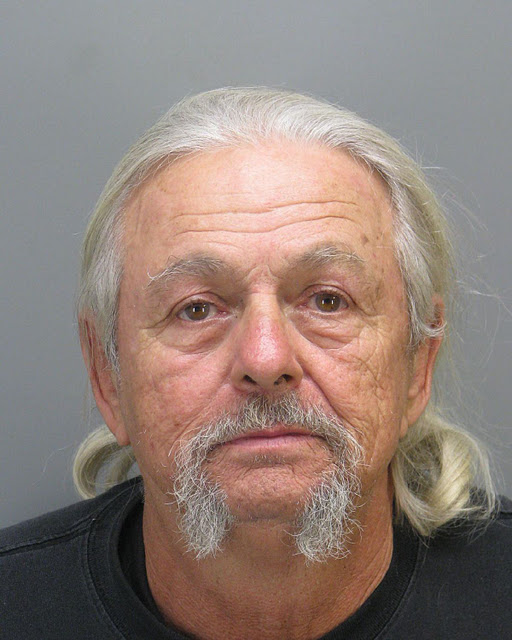 Gary Brown, booked by San Jacinto, Calif., police for allegedly driving his Harley-Davidson under the influence of alcohol.