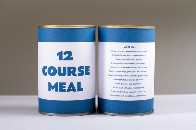 12-course meal in a can