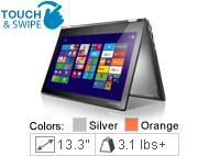 Lenovo Yoga 2 Pro - 59428040 - Silver Gray: Weekly Deal - 4th Generation Intel Core i7-4510U (2.00GHz 1600 MHz 4MB)