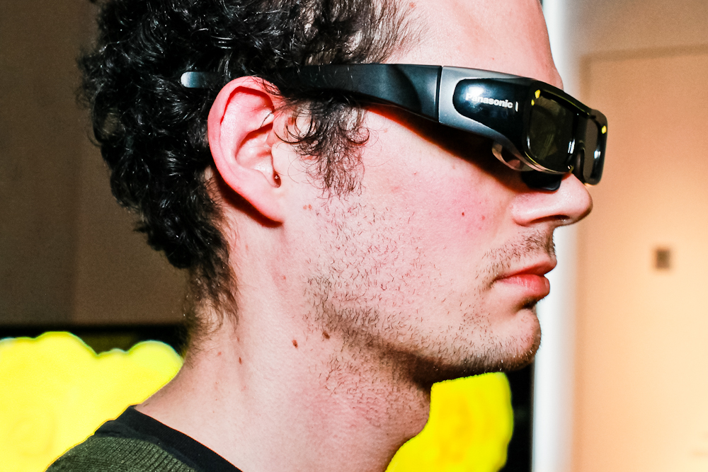 An example of the active-shutter 3D glasses those polled say inhibits them from buying a 3D TV.