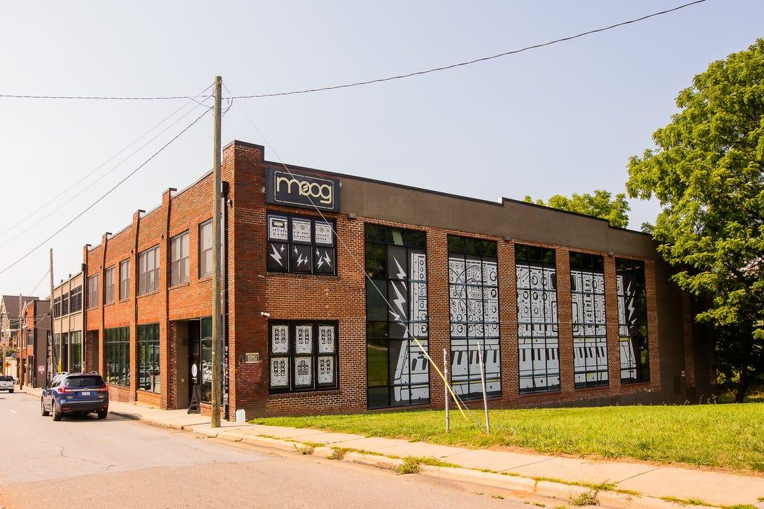 Moog Music factory tour