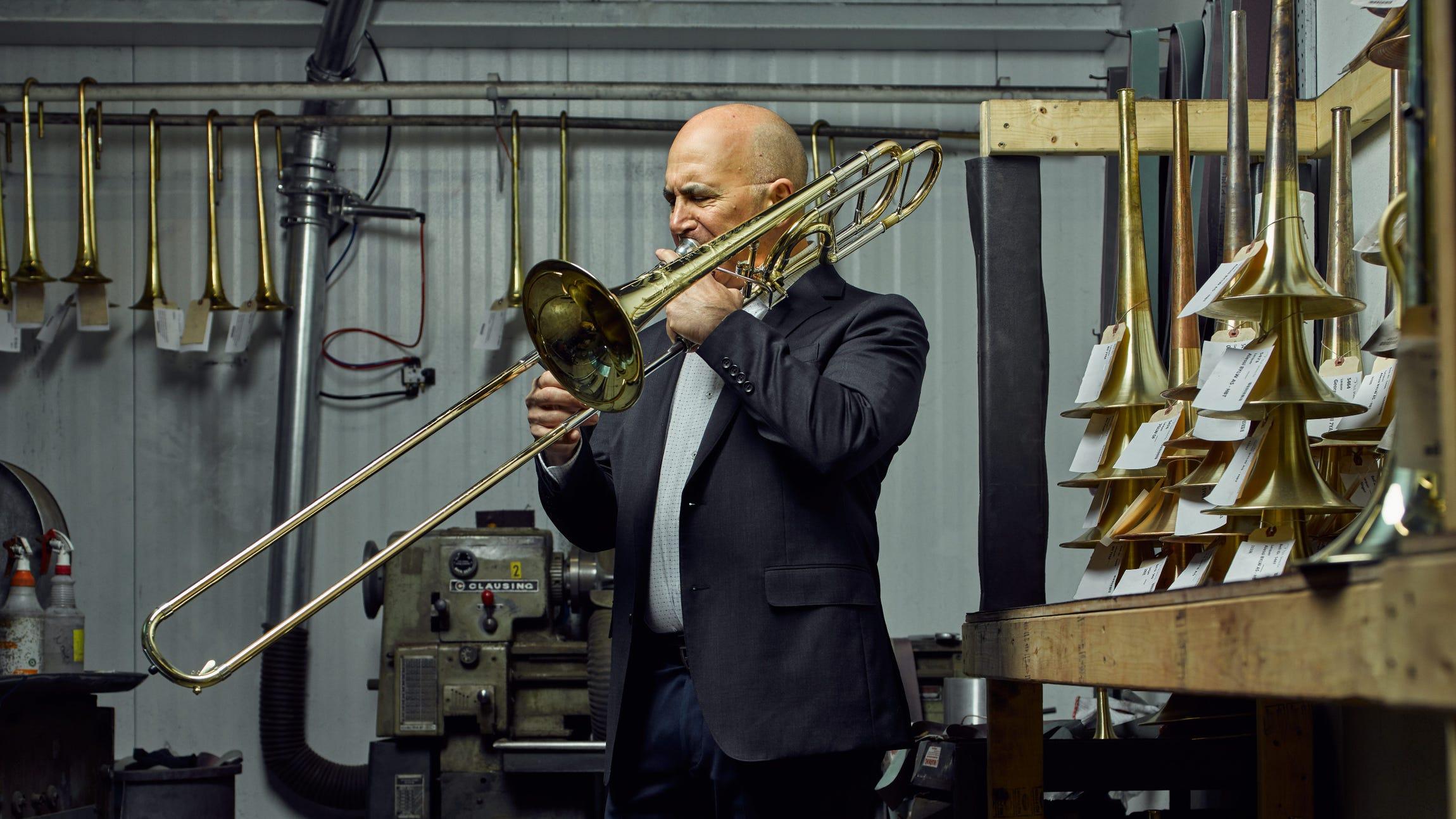 Joseph Alessi, principal trombone player of the New York Philharmonic.