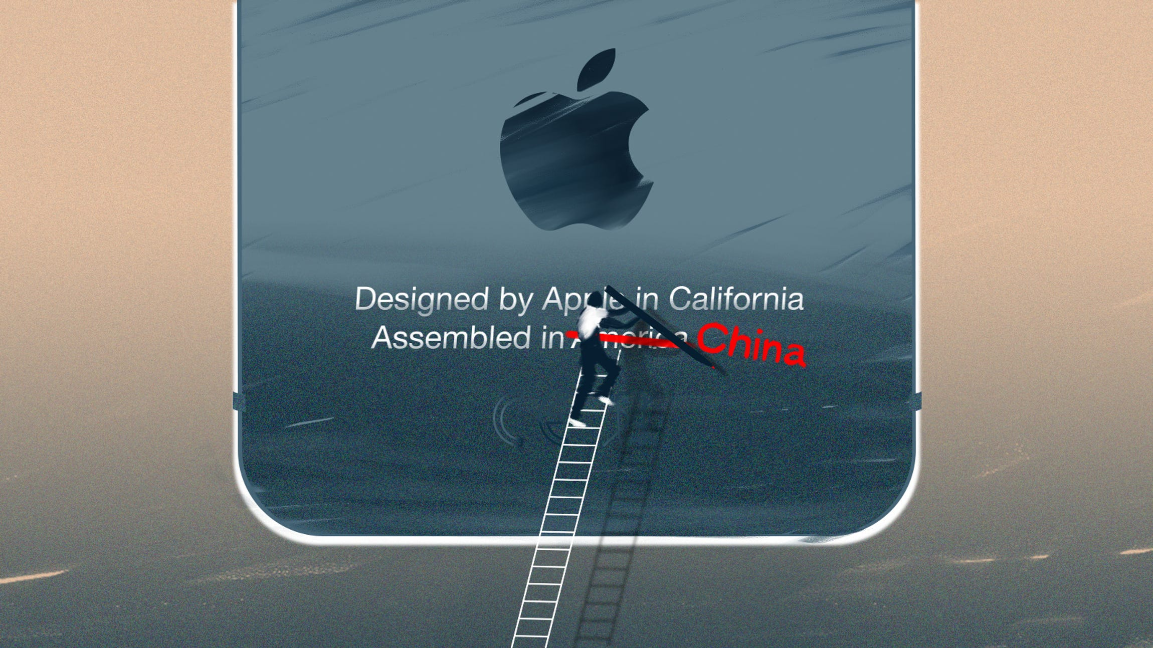 """Illustration for iPhone story in """"Made in America"""" series"""