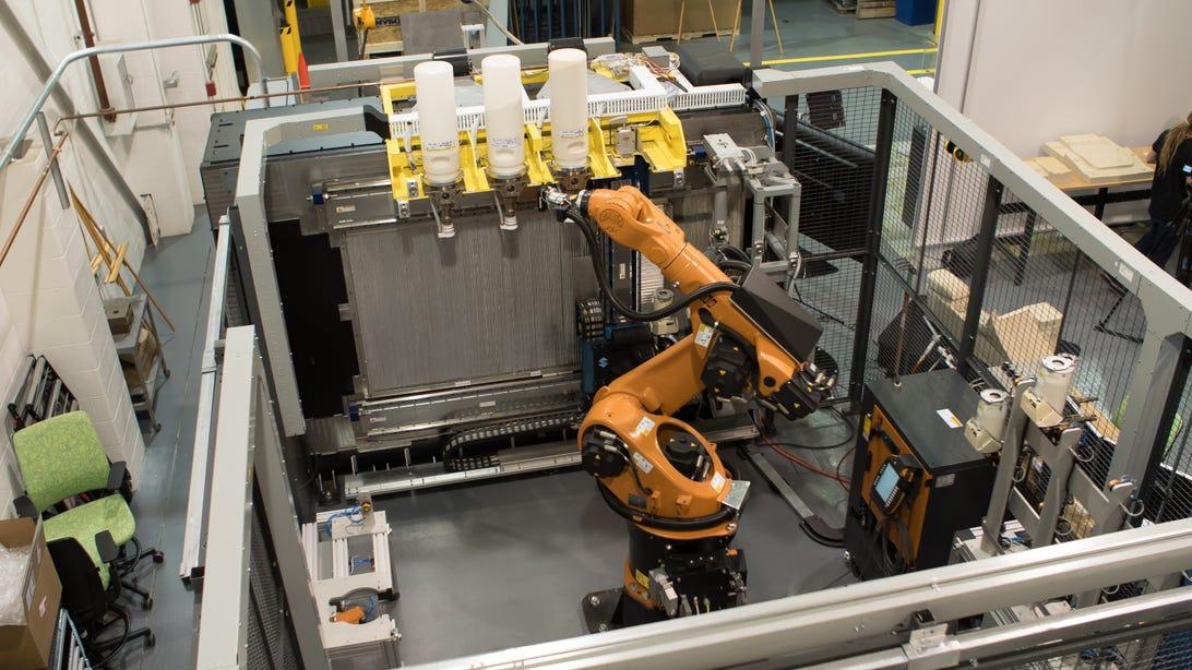 Ford's Stratasys Infinite Build 3D Printer prototype