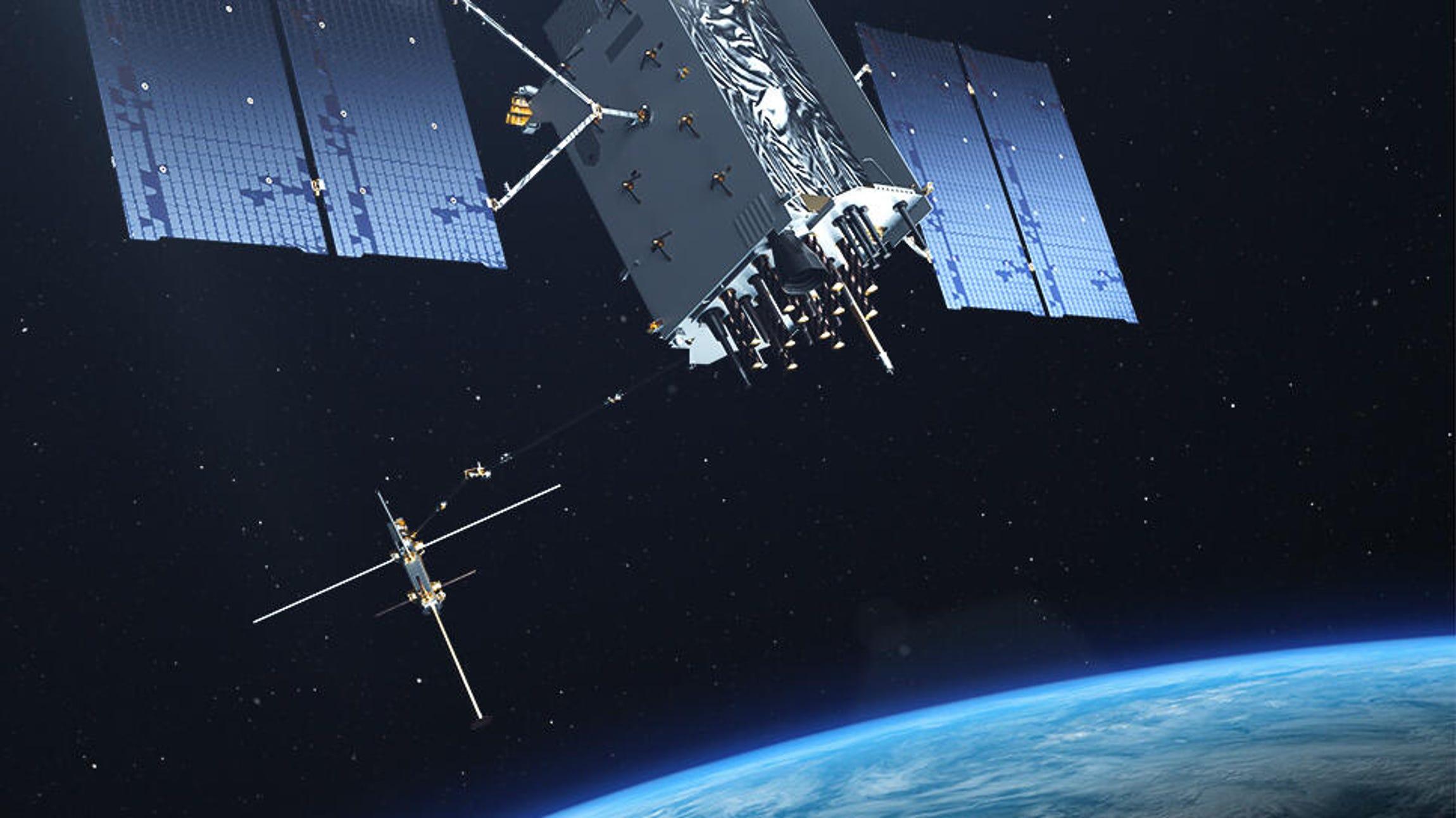 GPS III satellite on orbit