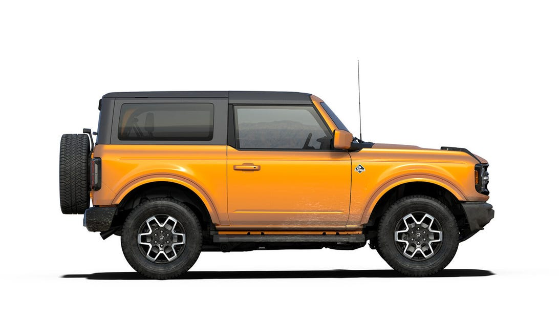 2021 Ford Bronco Outer Banks two-door in Cyber Orange