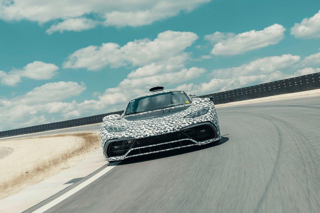 Mercedes-AMG One track testing