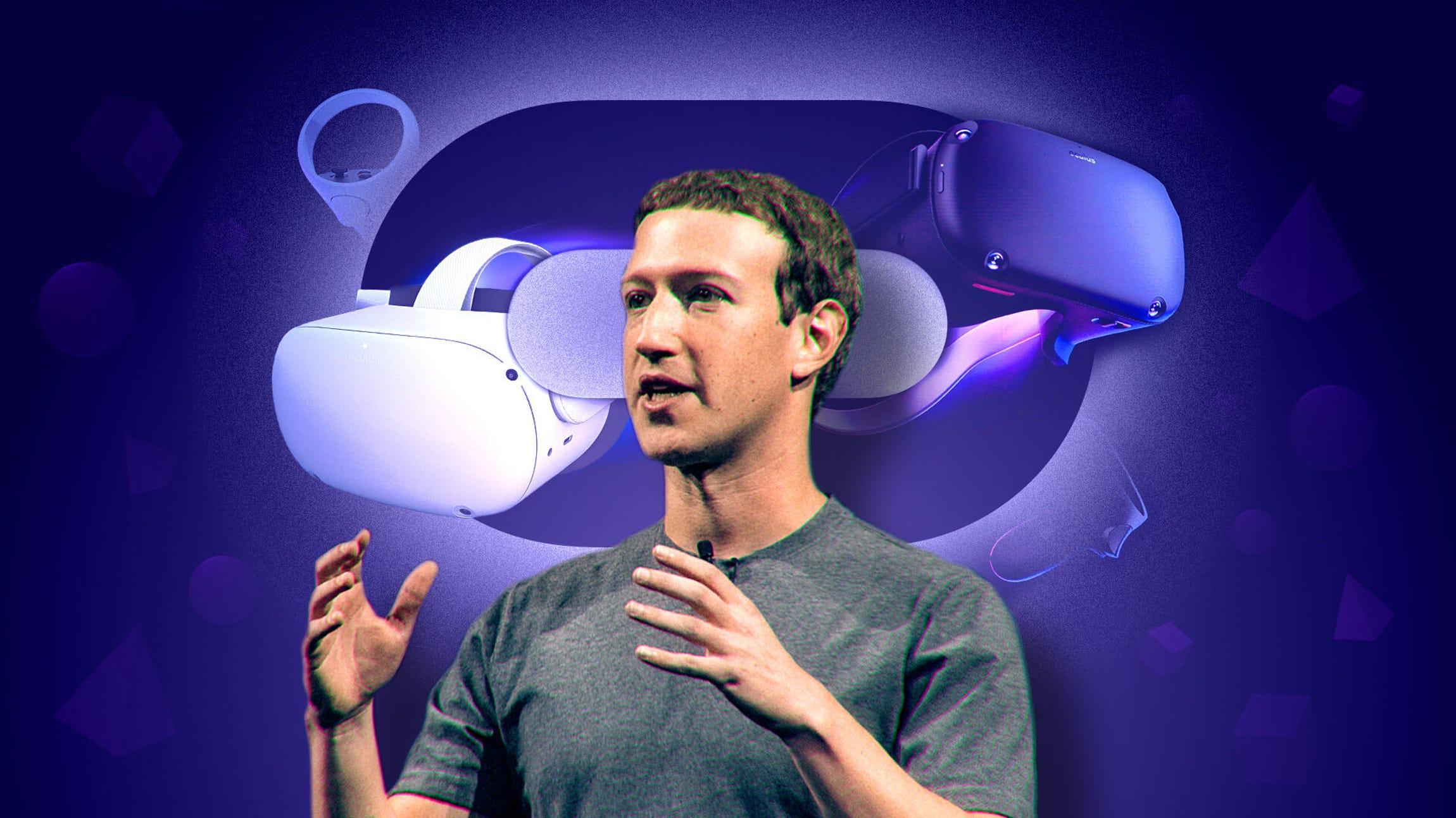 Mark Zuckerberg Oculus Quest VR headsets