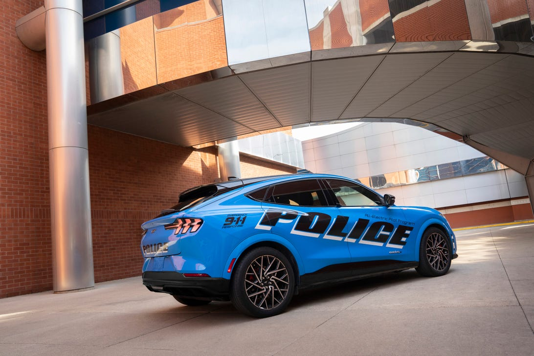 Ford Mustang Mach-E GT police car