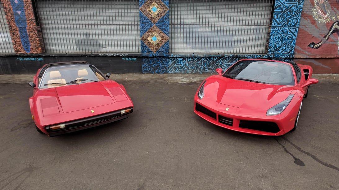 Ferrari 488 Spider and 308 GTSi