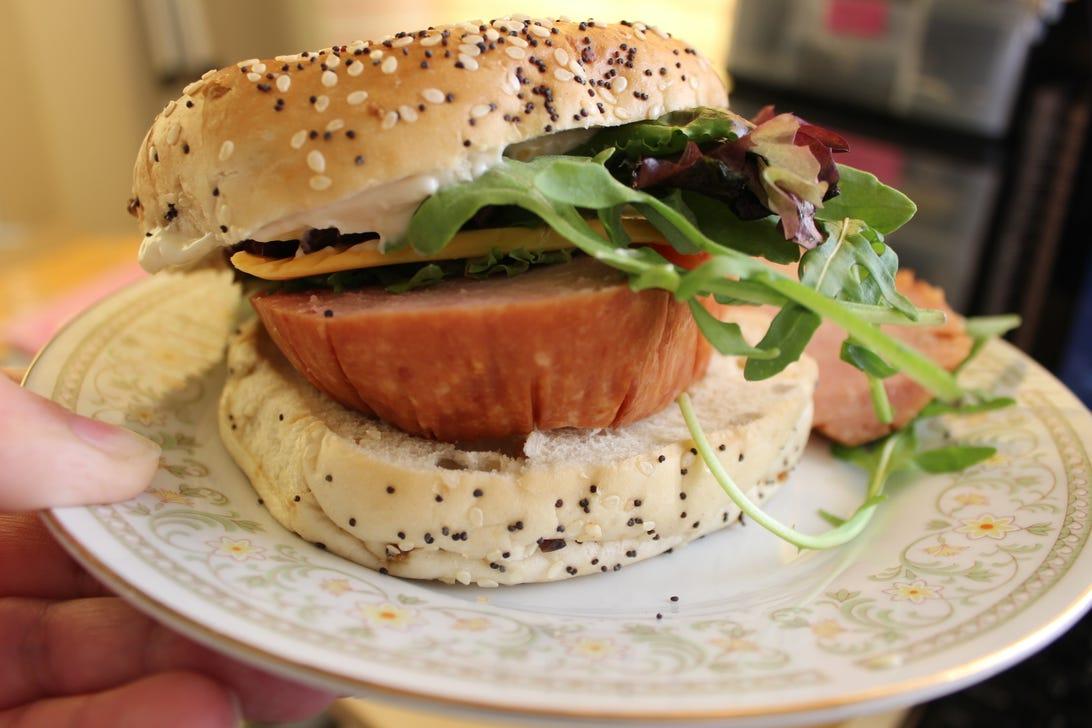 Sandwich with mayo
