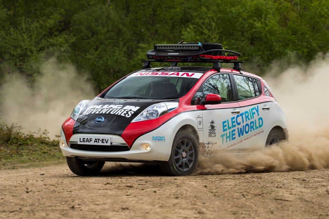 Nissan Leaf AT-EV Rally Car