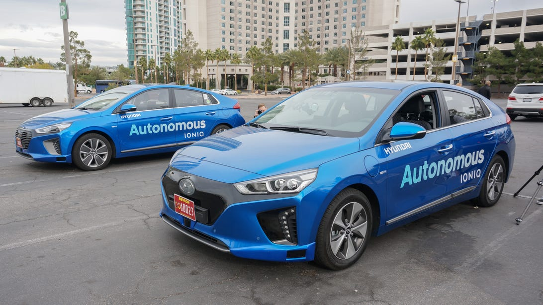 Hyundai autonomous Ioniq prototype