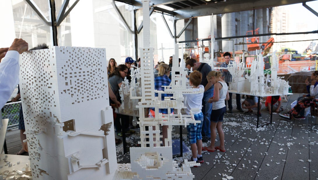 Build your own ideal city with Legos