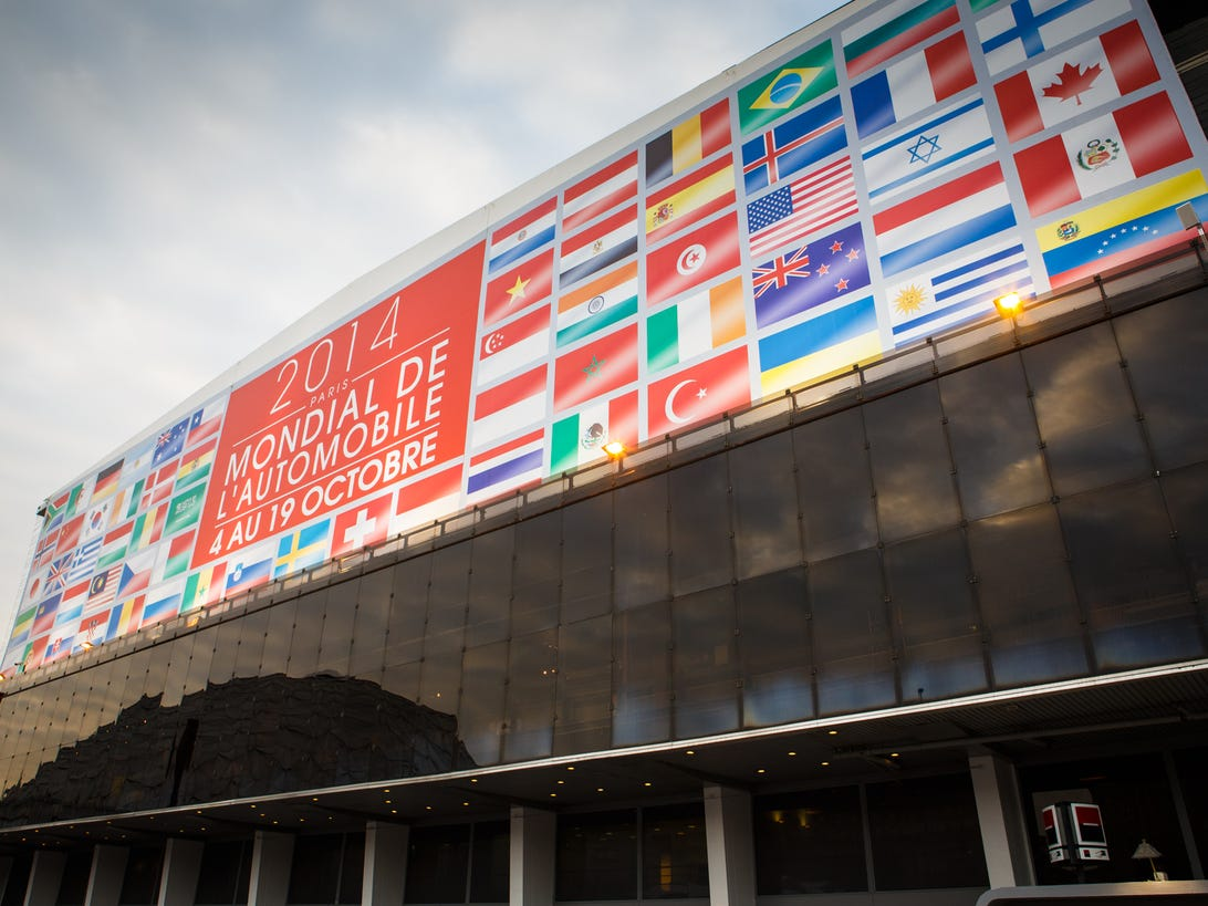 Banner for the 2014 Paris Motor Show