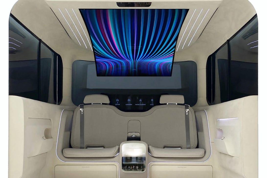 Hyundai-LG Ioniq concept cockpit