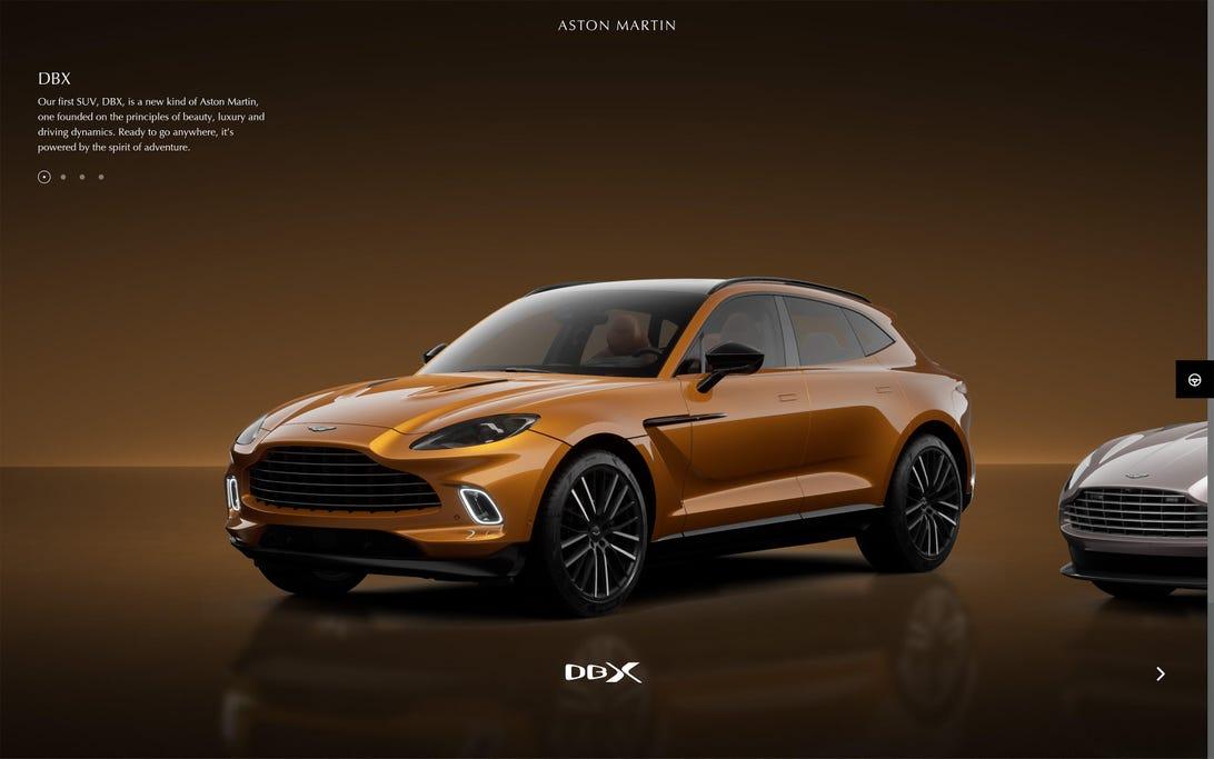 Aston Martin online configurator
