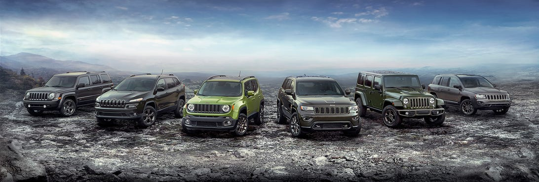 Jeep 75th Anniversary Lineup