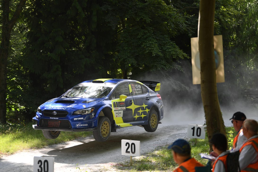 Subaru at the Goodwood Rally Stage