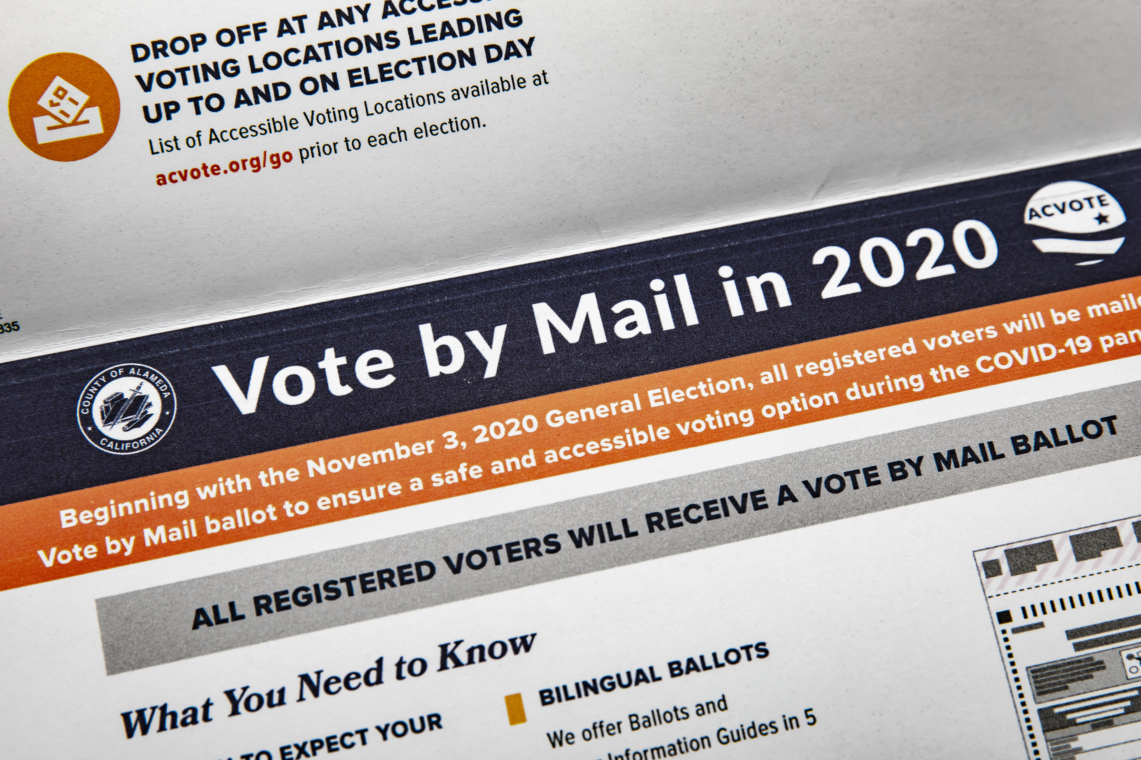 A vote-by-mail ballot