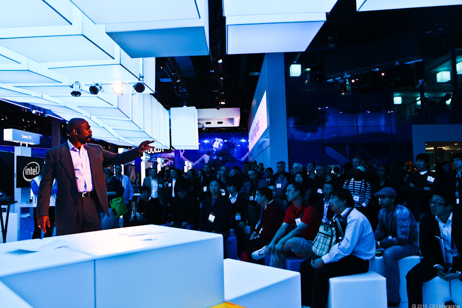 With CES in full swing Thursday and Friday, most of the booths were packed all day with crowds watching demos.