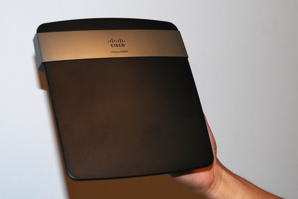 The Linksys E2500 wireless router from Cisco.