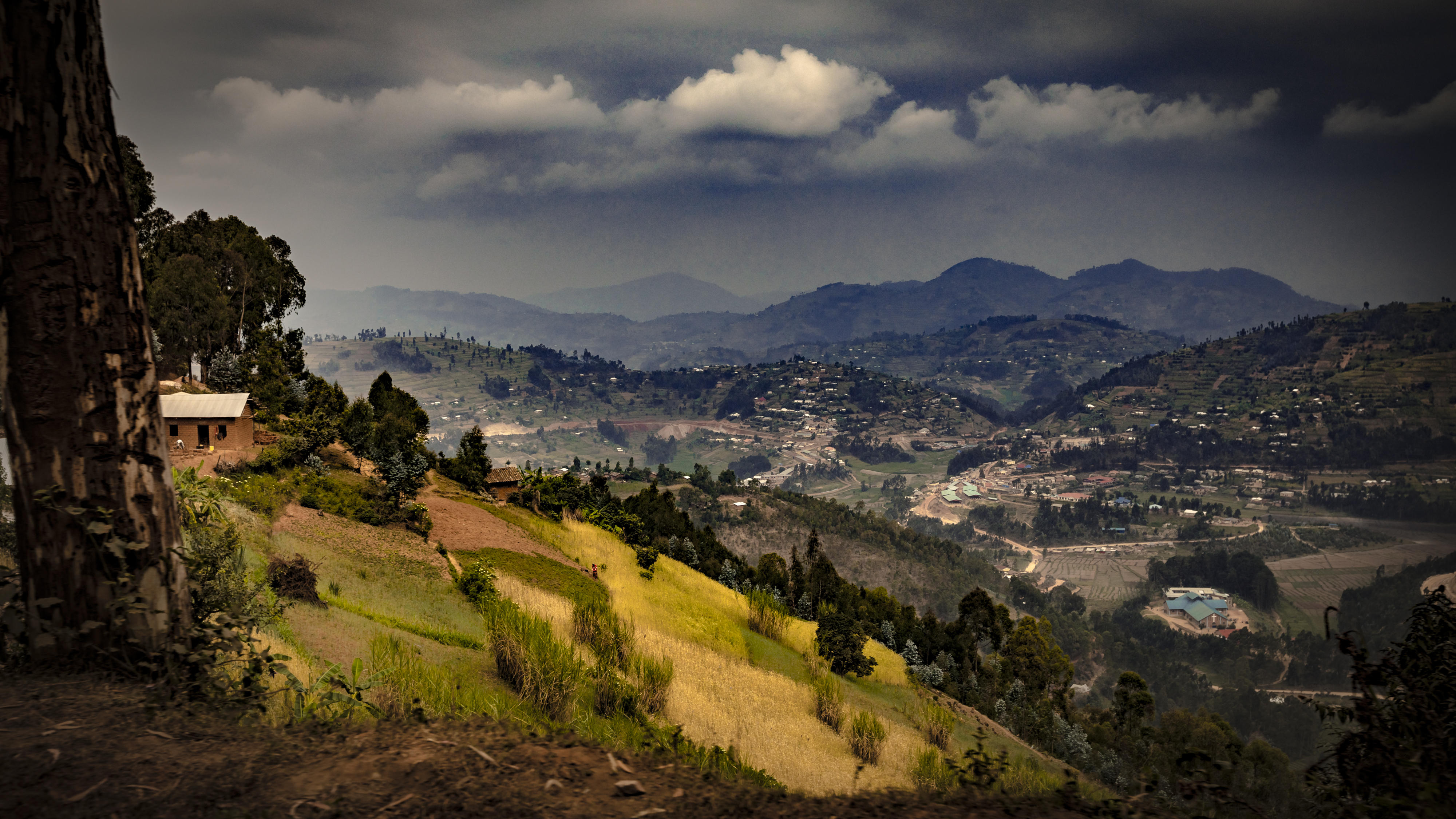 """Called the """"land of a thousand hills,"""" Rwanda is a beautiful country of mountains, volcanoes and terraced farms."""