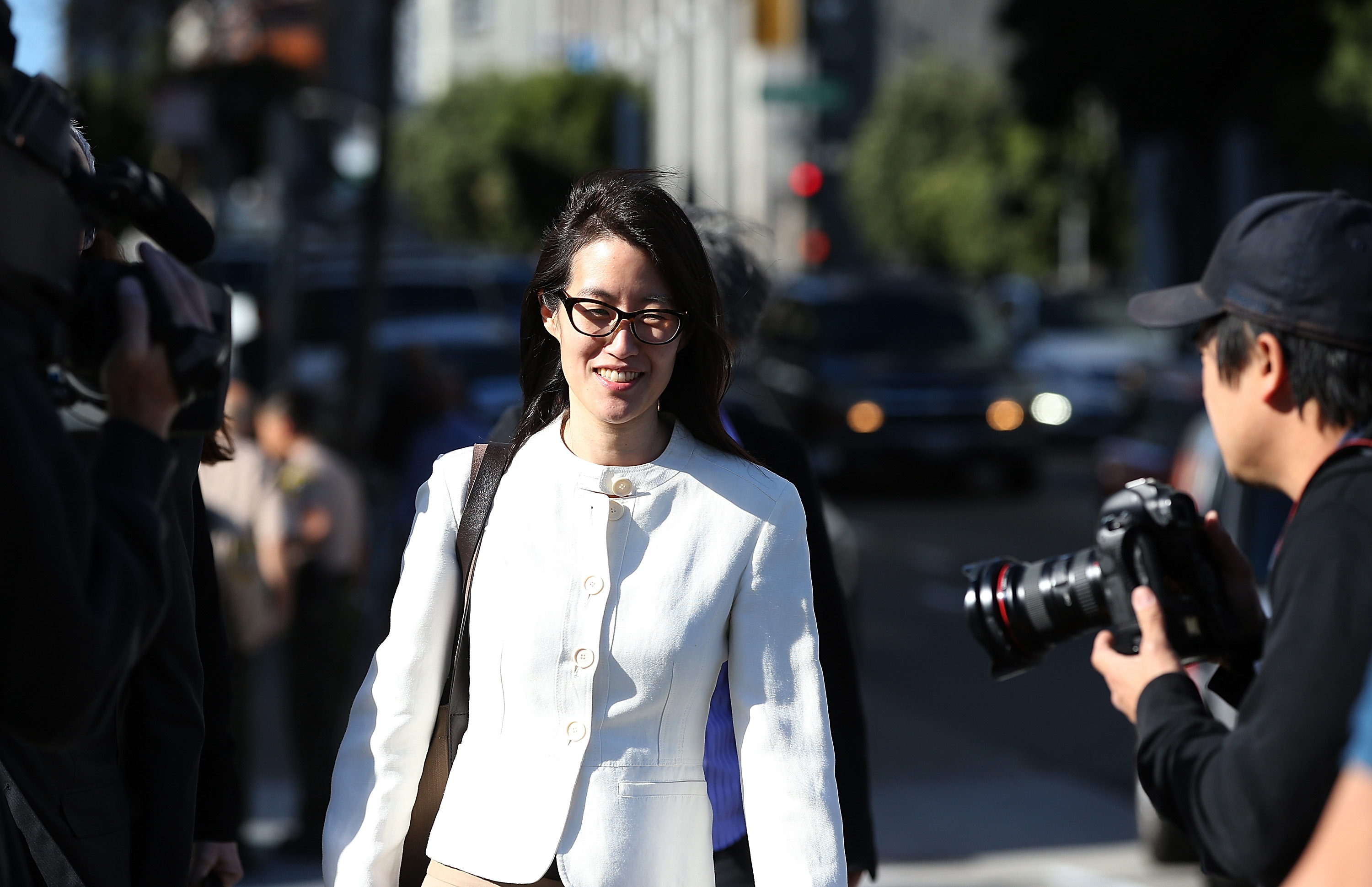 Ellen Pao leaves the courthouse after losing her sexual-discrimination case against Kleiner Perkins Caulfield & Byers. The case wrapped up on a chaotic note as jurors were asked to resume their deliberations after the initial verdict announcement.
