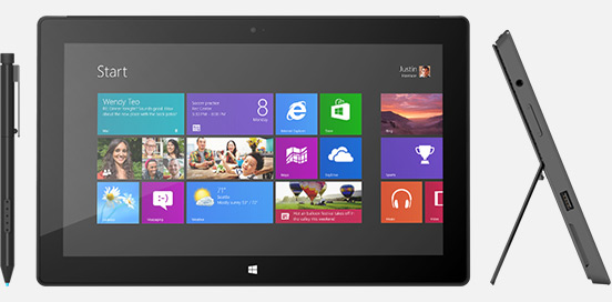 Surface with Windows 8 Pro starts at an ultrabook-like $899.