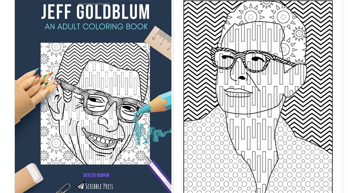 A coloring book for the Goldblum obsessed