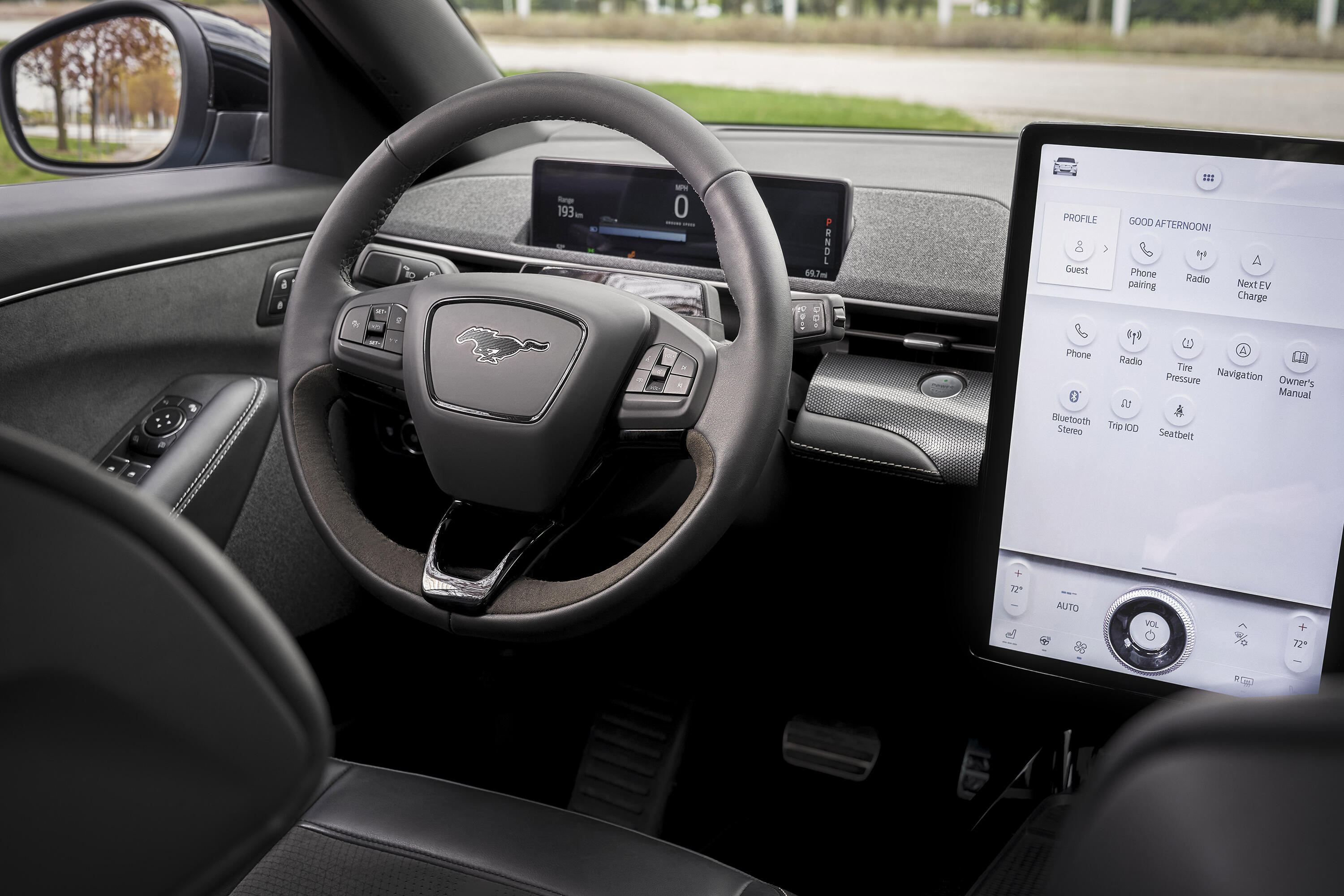 2021 Ford Mustang Mach-E GT dashboard and infotainment