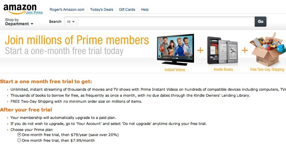 Amazon Prime has a new offer.