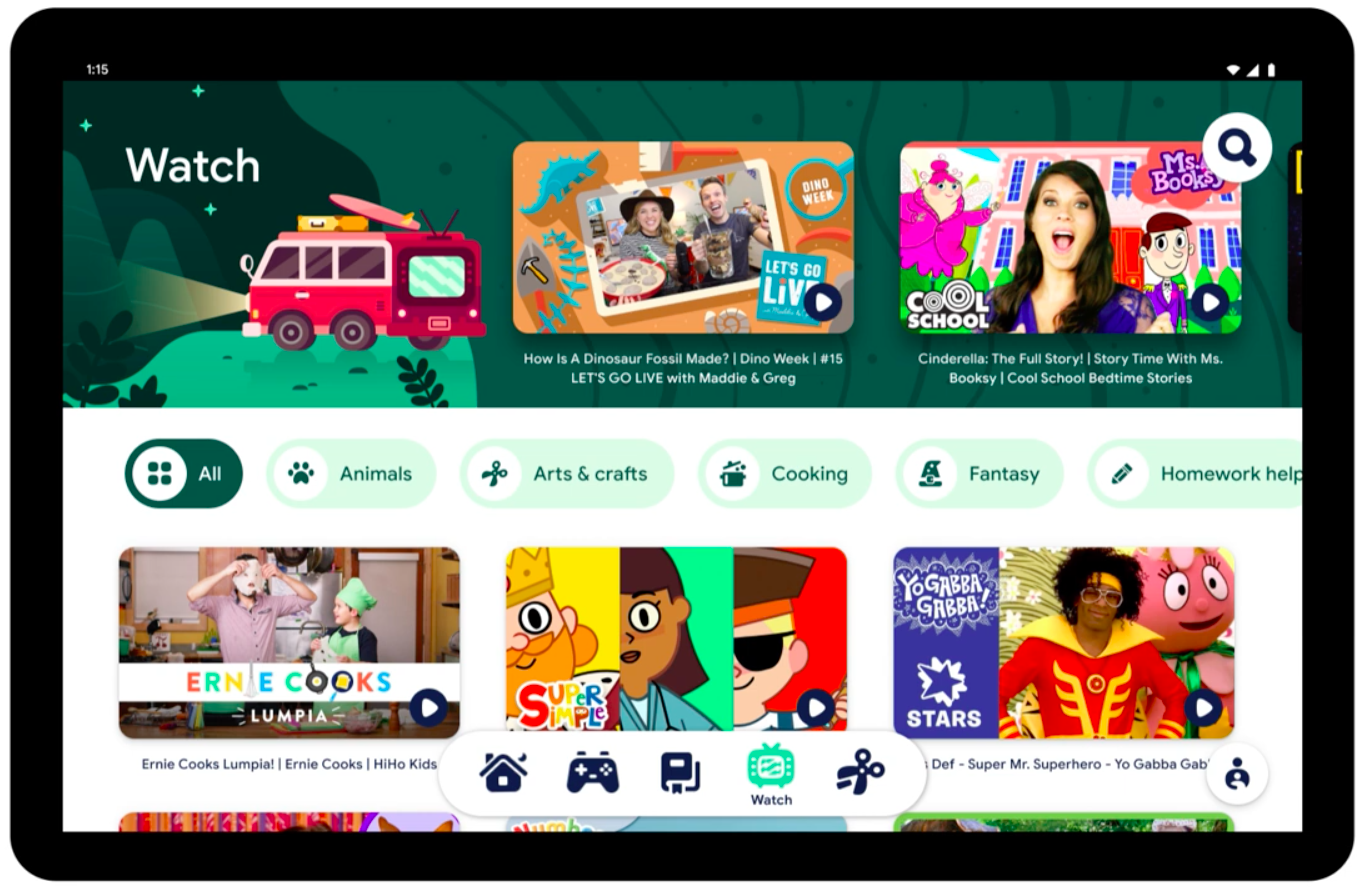 Google launches Kids Space, a hub for child-friendly apps and videos on tablets