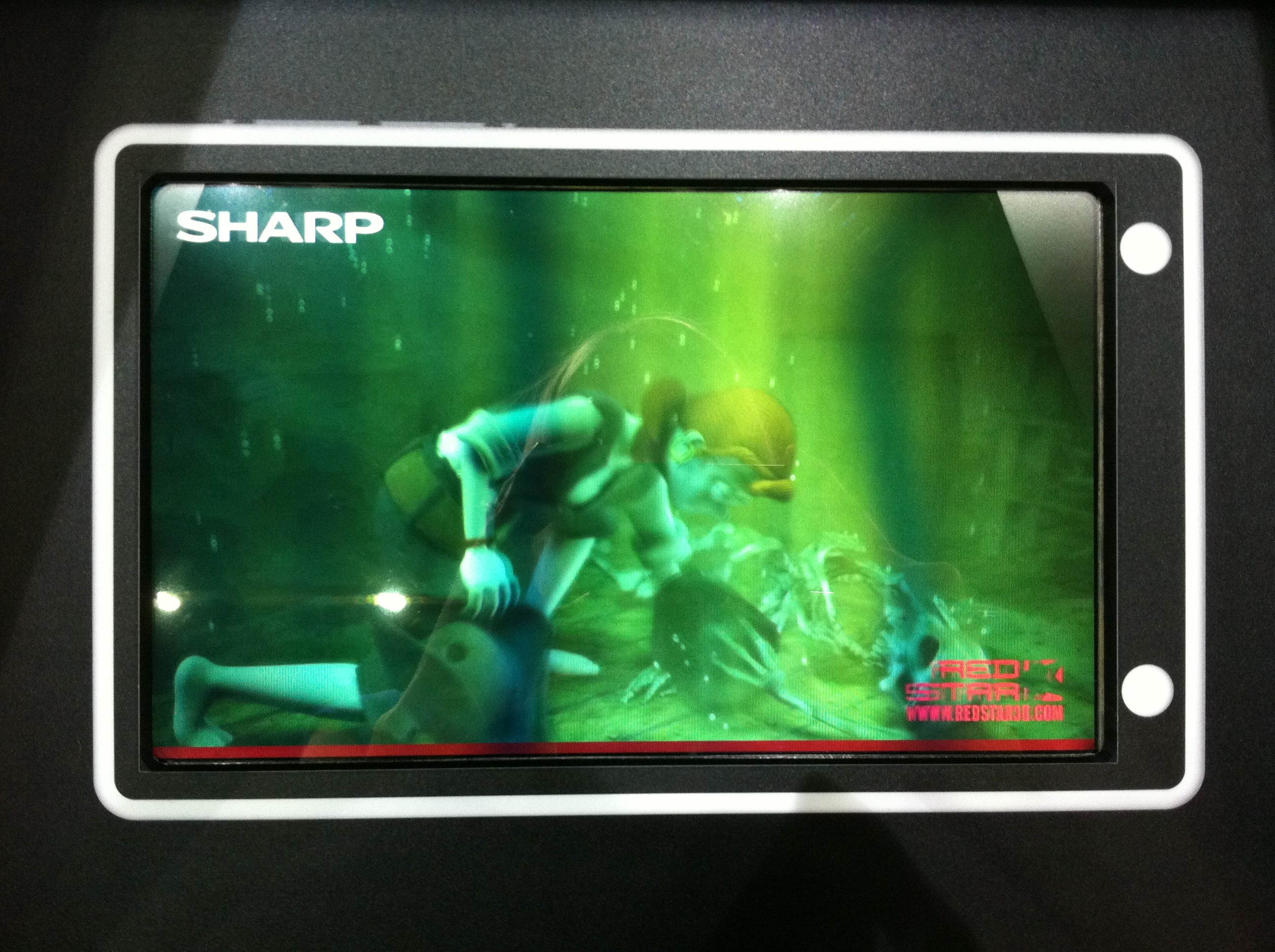 Sharp's glasses-less 3D works well. But right now it only works at a size best suited to mobile devices, not TV sets.