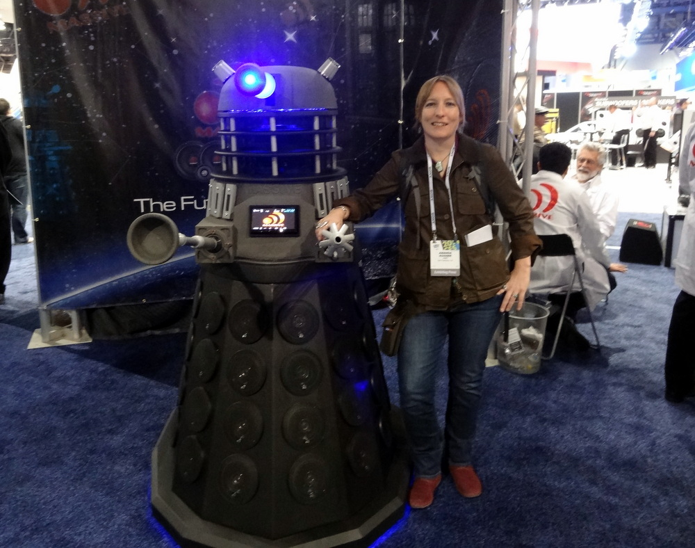 Posing with the Massive Dalek